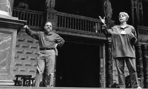 Shakespeare Workshop on the stage of Shakespeare's Globe, 1998